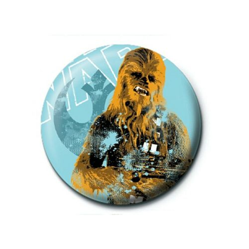 Star Wars Chewbacca Distressed Button Badge